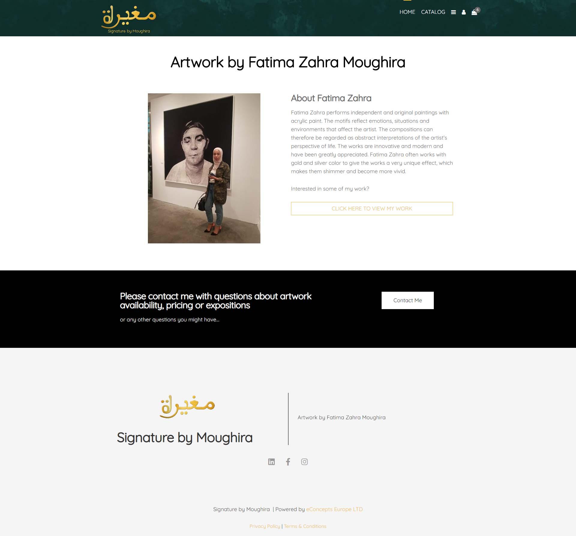 art webshop Signature by Moughira